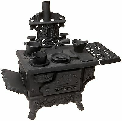 Old Mountain 78224 Cast Iron Mini Replica Wood Stove Set