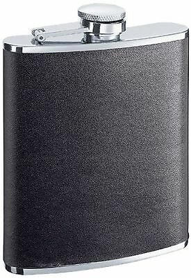 """Visol """"Zano"""" Stainless Steel Leather Wrap Flask 6-Ounce"""