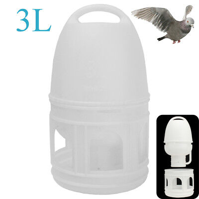 3L 3000ML Removeble White Plastic Drinker With Handle For Pigeons Bird Supplies