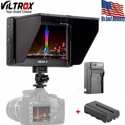 Viltrox 7'' HDMI Video LCD Monitor For Canon Nikon Pentax DSLR+battery+charger