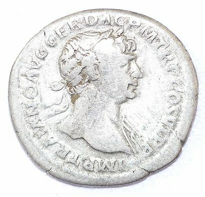 AUTHENTIC TRAJAN ROMAN COIN, AR Silver Denarius, Rv. Arabia - A867