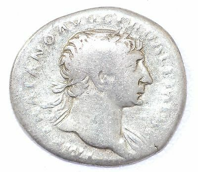 AUTHENTIC TRAJAN ROMAN COIN, AR Silver Denarius, Rv. Optimo Principi - A873