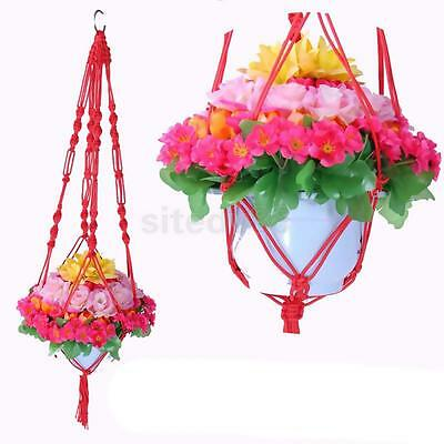 1M Plant Pot Hanger Macrame Jute Rope for In/Outdoor Ceiling Holder Red