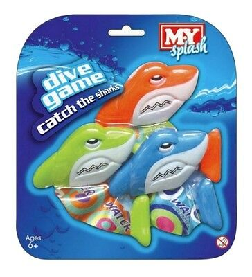 M.Y Underwater Pool Diving Dive Swim Weighted Catch The Sharks Toys TY9138