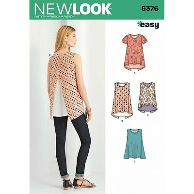 NEW LOOK SEWING PATTERN Misses\' TOPS WITH LENGTH VARIATIONS SIZE 10 ...