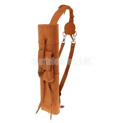 Microfiber PU Leather Back Arrow Quiver with Front Large Pocket Yellow