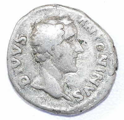 AUTHENTIC EMPEROR ANTONINUS PIUS, COIN Silver Denarius - rev. EAGLE - A910