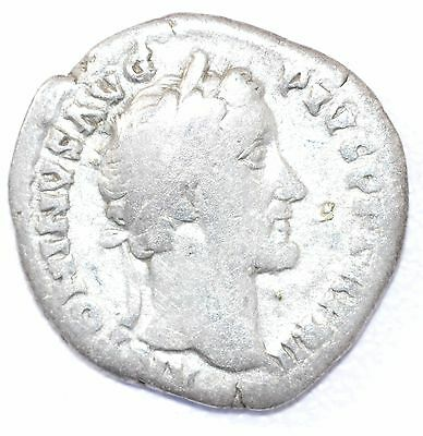 AUTHENTIC EMPEROR ANTONINUS PIUS, COIN Silver Denarius -rev. SACRIFICE - A917