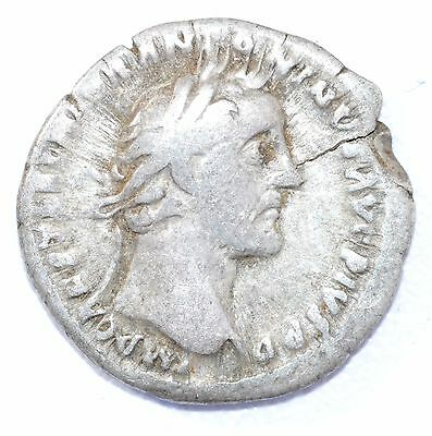 AUTHENTIC EMPEROR ANTONINUS PIUS, COIN Silver Denarius -rev. COIN - A923