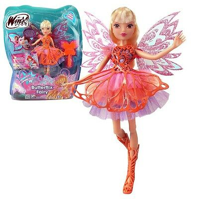 Winx Club - Butterflix Fairy - Stella Doll 28cm with Magic Robe