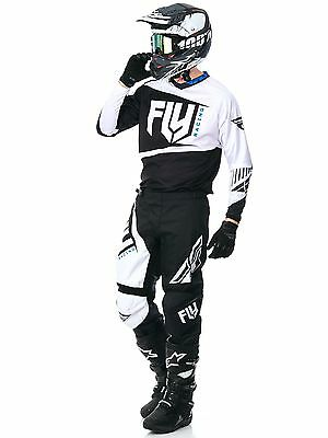 New 2017 Fly F-16 Combo Jersey Pants Kit Black 32 34 36 38 40 Motocross Enduro