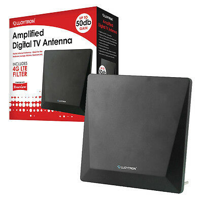 HQ Amplified Active Indoor HD Digital TV Antenna Aerial 50dB Freeview 4G Filter