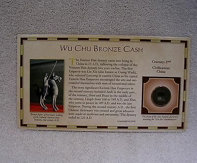 Wu Chu Bronze Cash Coin - 2nd Century Eastern Han Dynasty -  Circa 25-220 A.D.