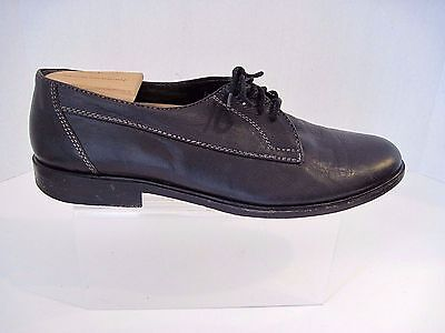 551eb13b7b2ef DAVID & JOAN Vintage Mens Oxford Black Leather Shoes Size 10 1/2, Made In  Italy