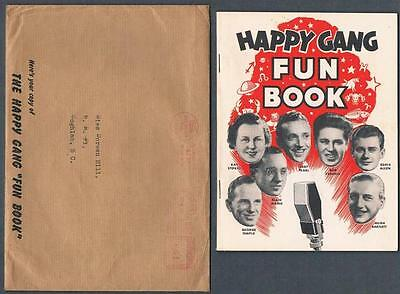 1942 Colgate-Palmolive Co. The Happy Club Gang Premium Fun Book+Mailer Envelope