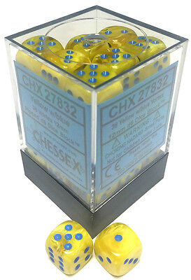 Chessex Dice: Vortex 12mm D6 Yellow/Blue (36) CHX 27832