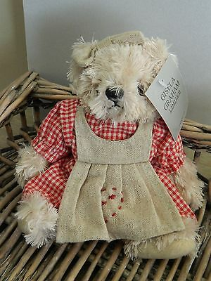 Gisela Graham Fabric Gingham Teddy Bear Girl Ornament/Home Decor/Gift /Toy