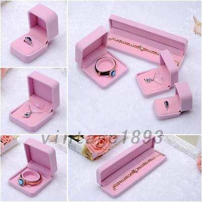 New Vintage Velvet Wedding Engagement Ring Box Pendant Jewelry Display Boxes