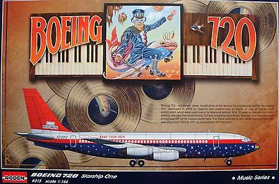 RODEN® #315 Boeing 720 Elton John Band Tour 1974 in 1:144