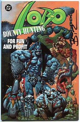 LOBO BOUNTY HUNTING for Fun and Profit #1, NM, Signed by Simon Bisley, 1995