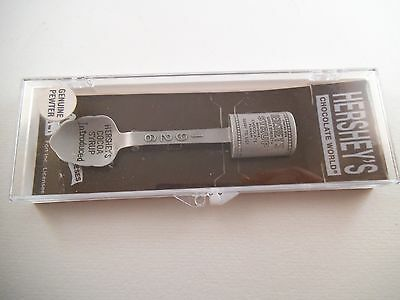 Adorable Hershey's Chocolate World Cocoa Syrup Pewter Spoon Souvenir