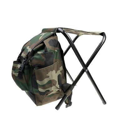 Hunting Fishing Backpack Bag Pack Foldable Tackle Storage Box with Stool