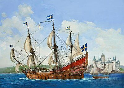 Swedish Regal Ship VASA 1/150 scale skill 5 Revell plastic model kit#5414