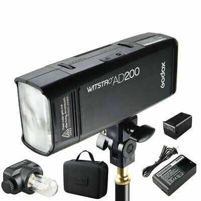 Godox 2.4 TTL Double Head AD200 Outdoor Pocket Flash 2900mAh Battery Speedlite