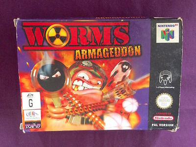 ***BOX ONLY N64 WORMS ARMAGEDDON Nintendo 64 STRATEGY GAME PAL ***BOX ONLY VGC!