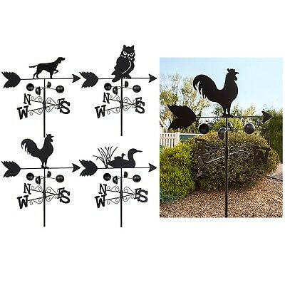1.4M Dark Metal Weather Vane Garden Ornament Decor Wind Speed Spinner Direction