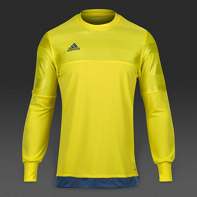 adidas Entry 15 Yellow Night Marine Goalkeeper Shirt Sizes M & L