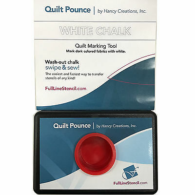 Quilt Pounce Pad With Wash-Out White Chalk Powder 2 Oz. Bag - Quilt Marking Tool