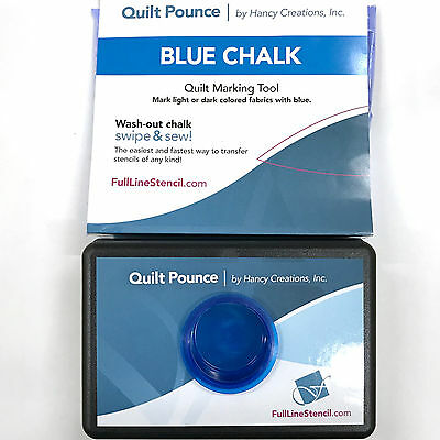 Quilt Pounce Pad With Wash-Out Blue Chalk Powder 2 Oz. Bag - Quilt Marking Tool