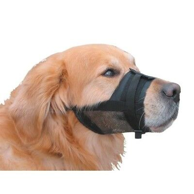 Nobby Nylon Adjustable Muzzle for Dog, S/M, Size 15 - 20 cm, Black NEW