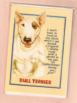 English Bull Terrier Notecards Note Cards Pack of 4 No Longer Available
