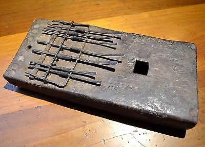 Antique Luba Tribe African Thumb Piano Mbira Musical Instrument Congo, Africa