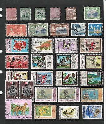TRINIDAD TOBAGO Stamp Collection EARLY to QEII Mint Used REF:QE414