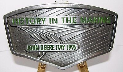 Vintage John Deere Day 1995 Pewter Belt Buckle History in the Making Collectible