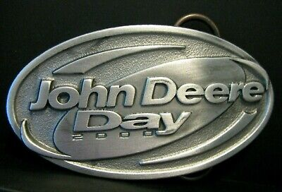 *John Deere CANADA AMT 622 All Material Transporter 1989 Pewter Belt Buckle jd