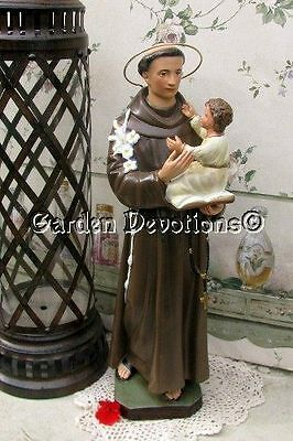 """Nice! 16"""" ST. ANTHONY W/ JESUS STATUE Chalkware **IMPORTED** ~ New!"""