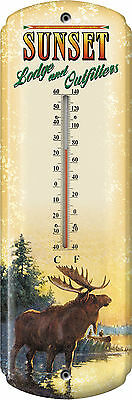 Moose Tin Thermometer Canada Vintage Look,Maine 1351