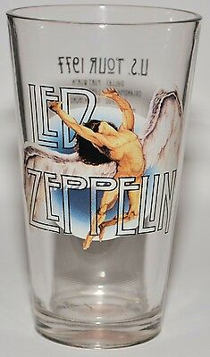 "LED ZEPPELIN Very Rare 6"" U.S. TOUR 1977 Collectible Drinking Glass AWESOME FIND"