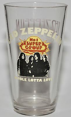 "LED ZEPPELIN Very Rare 6"" Collectible Drinking Glass ""Whole Lotta Love"" #1 GROUP"