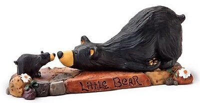 Jeff Fleming Bearfoots Whimsical Little Bear Sniffing Big Bear Figurine