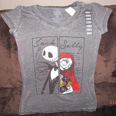 The Nightmare Before Christmas  Jack And Sally Shirt Ladies Size Large