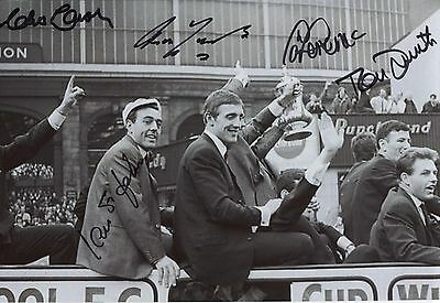 Liverpool Legends 12 x 8 inch photo, personally signed by Yeats, Smith, St John