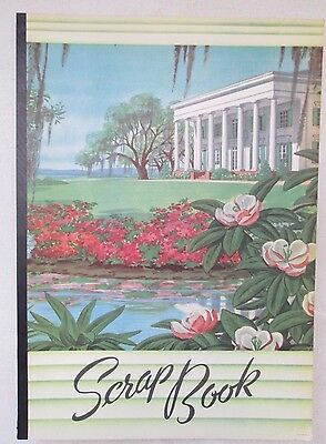 Vintage Scrap Book Scrapbook Southern Home White House Flowers Unused USA