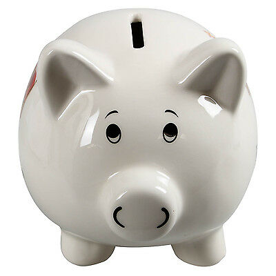 His Lordship Pig Design Money Box White Ceramic Piggy Bank Cash Savings Storage