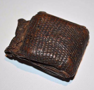 Antique Ethiopian Christian Prayer Scroll Rare Snakeskin Kitabe Amulet, Ethiopia