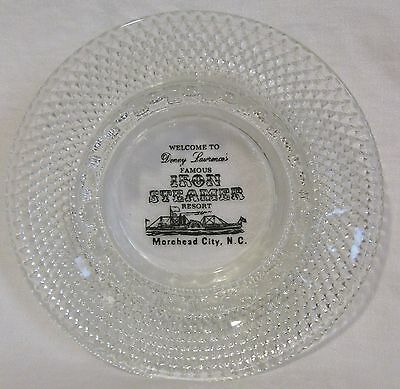Denny Lawrence's Famous Iron Steamer Resort Morehead City NC glass ashtray
